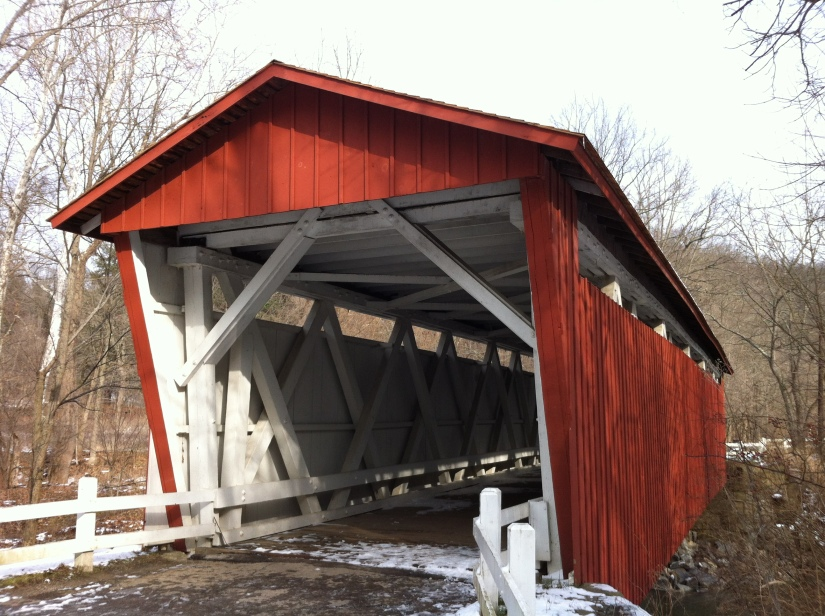 Covered bridge in the Cuyahoga Valley National Park.