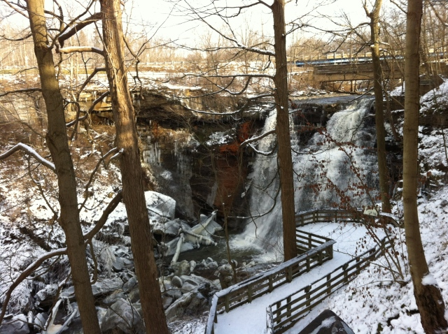 The Brandywine Falls in the Cuyahoga Valley National Park, Xmas Eve.