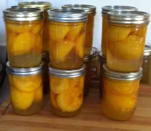 Not jam, just canned peaches. These came _after_ the jam.