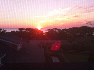 Sunrise from my bedroom. Yes, I saw it--almost every day!