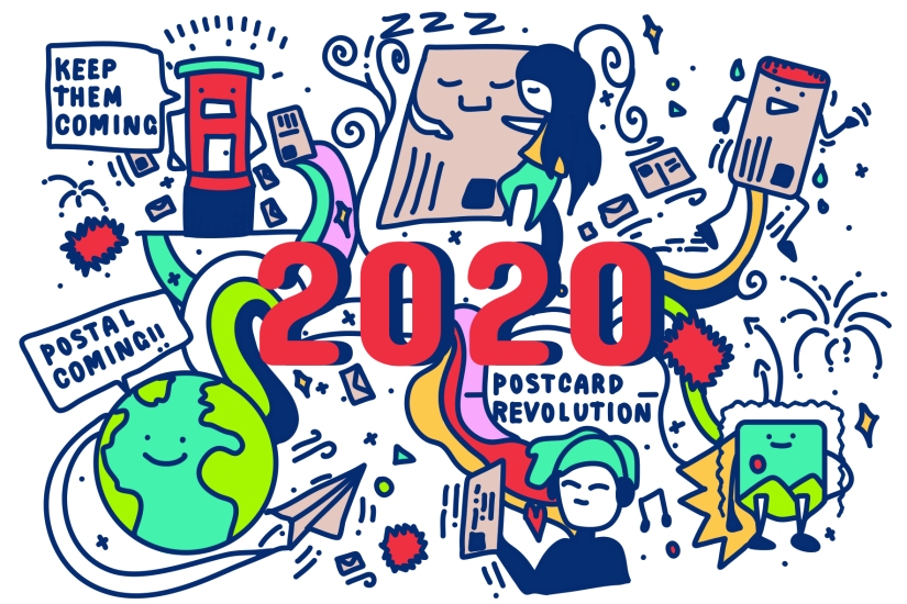 Postcrossing postcard image front design